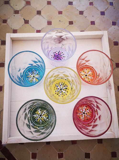 """Bouquet 6 Verres apéritif """"Multicolores"""""""