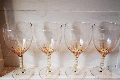 """Bouquet 6 Vin """"Fleurs Dorées"""" et variantes"""