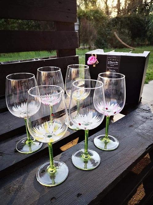 """Bouquet 6 Vin Dégustation """"Coccinelle et Marguerite"""""""