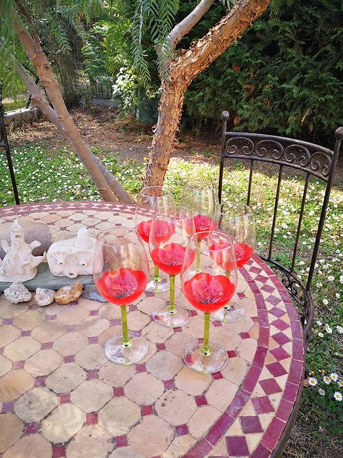 """Bouquet 6 Vin Dégustation """"Jardin de Coquelicots"""" et variante"""