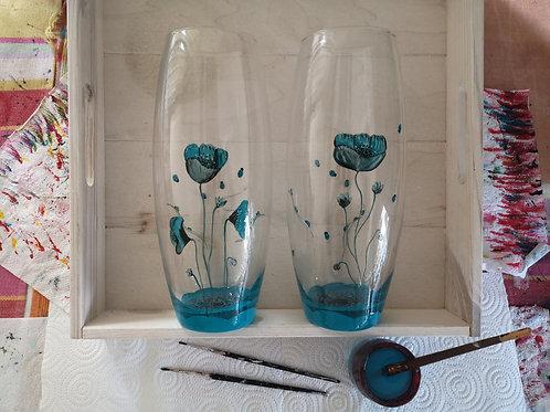 Vase Coquelicot Bleu Azur