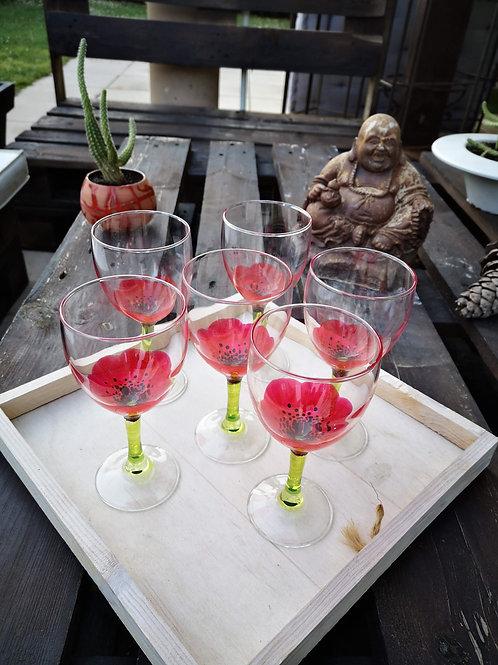 """Bouquet 6 Vin Fleurs """"Jardin de Coquelicot"""""""