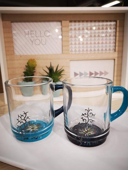 Tasses en duo de Bleu