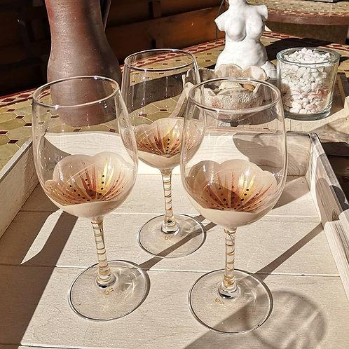 """Bouquet 6 Vin Dégustation Fleurs de """"Coton"""""""