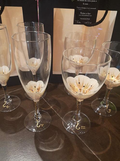 """Bouquet 6 Vin Fleurs de """"Coton"""""""