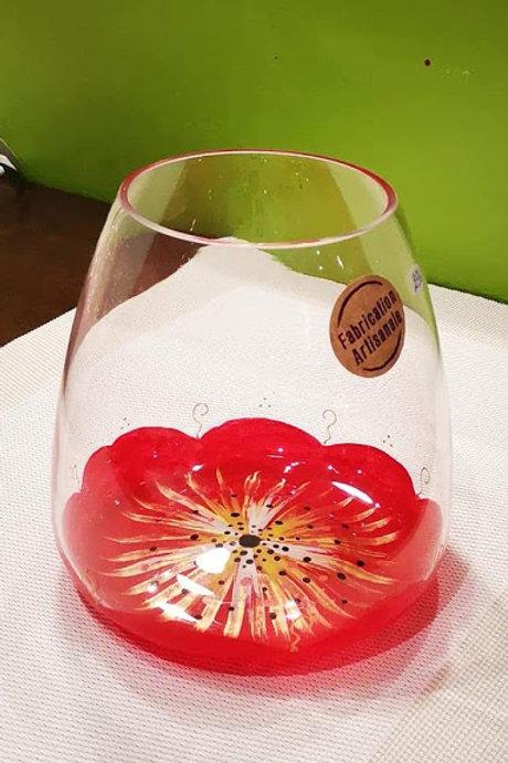Vase Décoratif Fleur rouge couleur au choix