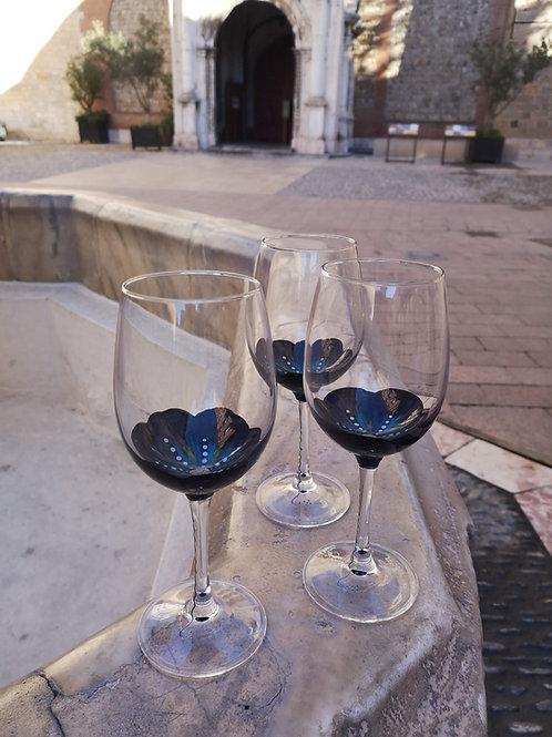 """Bouquet 6 Vin Dégustation Fleurs """"Abysses"""""""