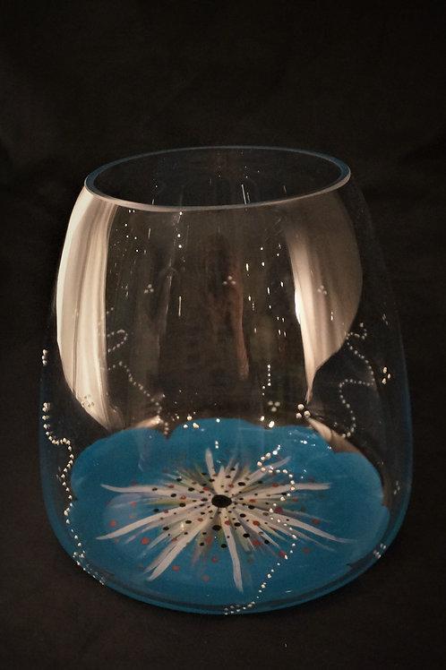 Vase Décoratif Fleur Turquoise couleur au choix