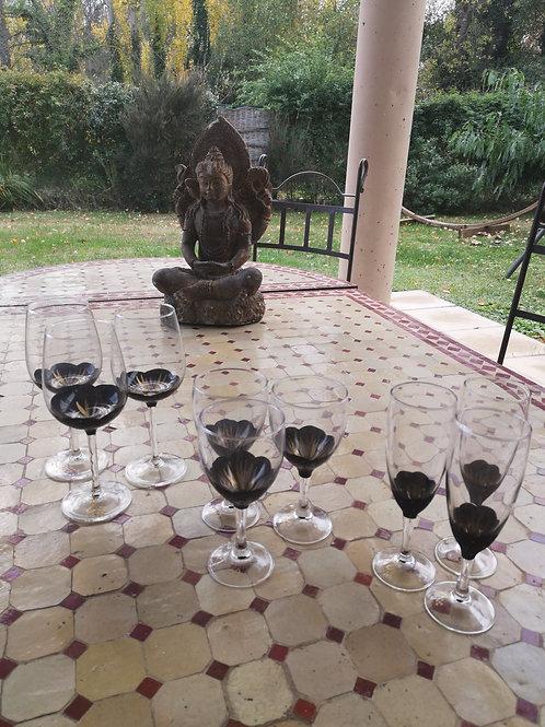 """Bouquet 6 Vin Fleurs """"Nuit étoilée"""""""