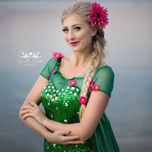 Snow Queen- Green Dress
