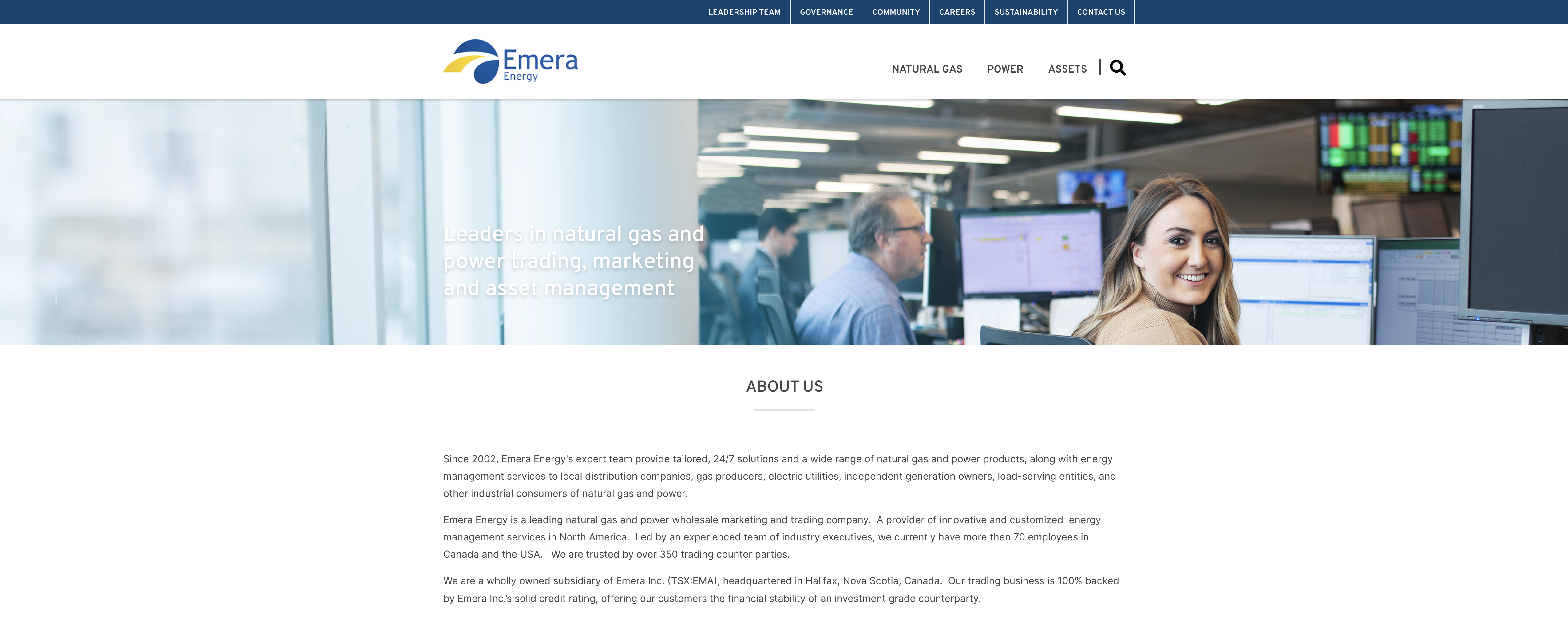 Emera Energy Home Page