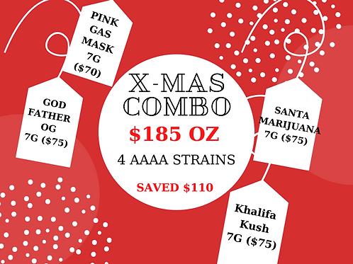 X-MAS COMBO - 1 OZ - $185