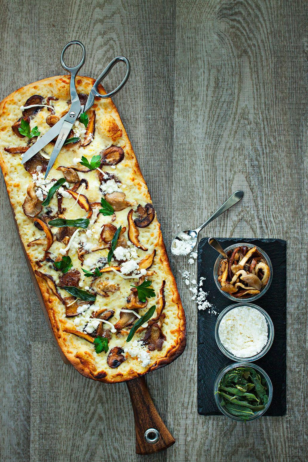 Pizza alla Funghi di Tartufo