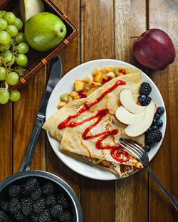 Crepe with Fruit Salsa