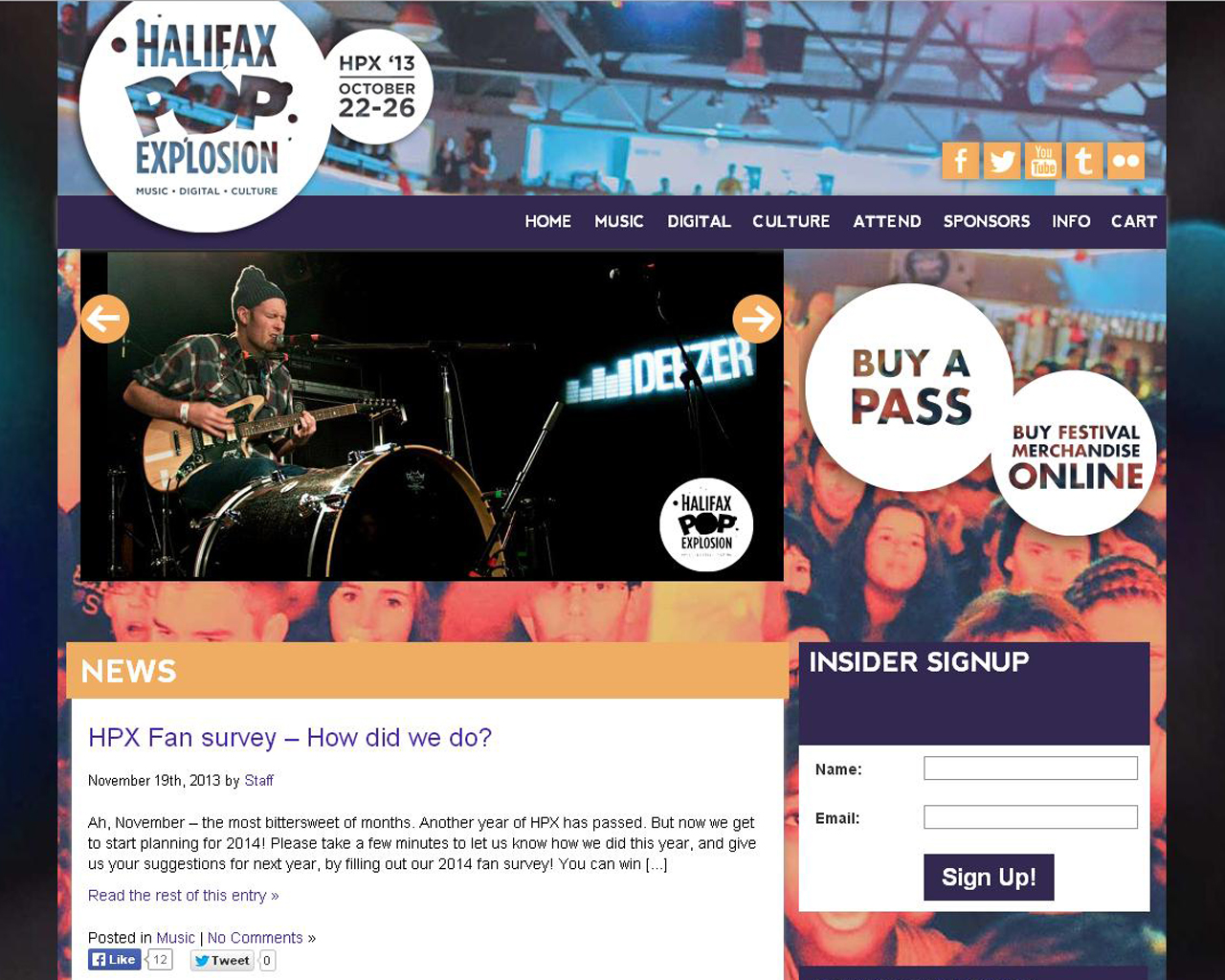 Halifax Pop Explosion Website