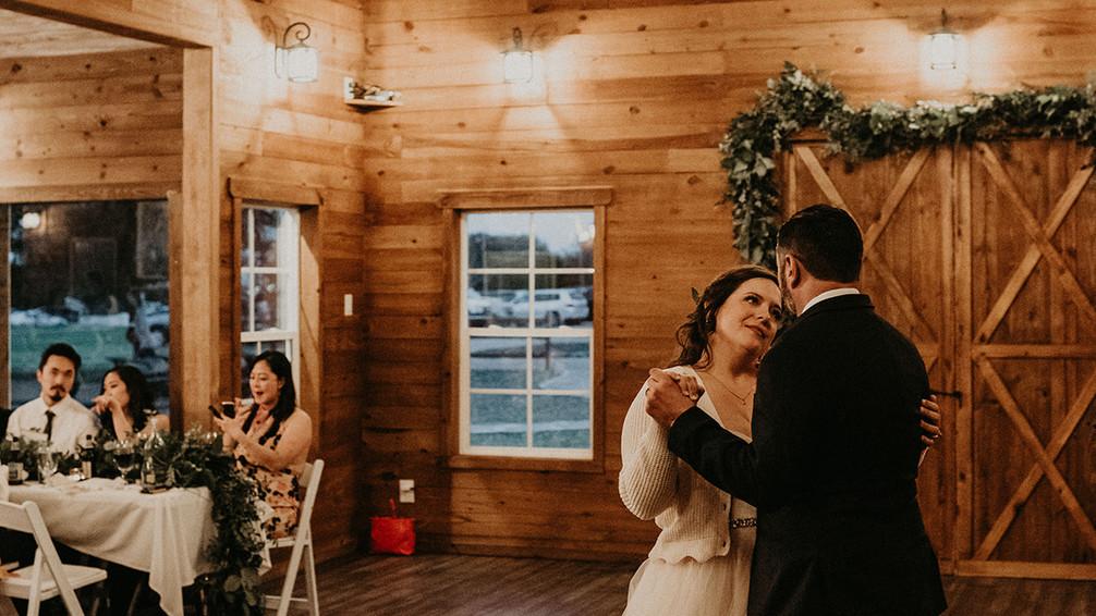 Wedding Dance in WindSong Wedding Barn at The Alexander at Creek Road near San Antonio Texas