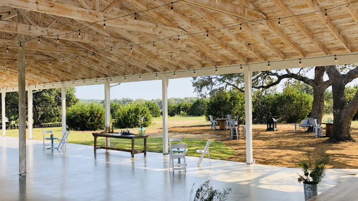 Pavilion with stage for band Texas Hill Country