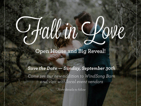 BIG REVEAL and Open House!