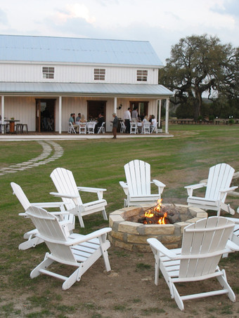 Fire Pit in the Meadow for retreats at The Alexander at Creek Road