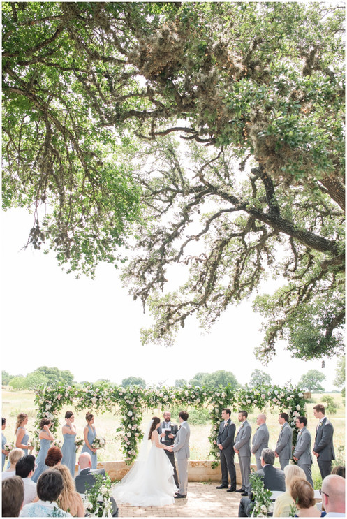 Meadow View Ceremony Site with florals by Whim and Photography by Mylah Renae Photography