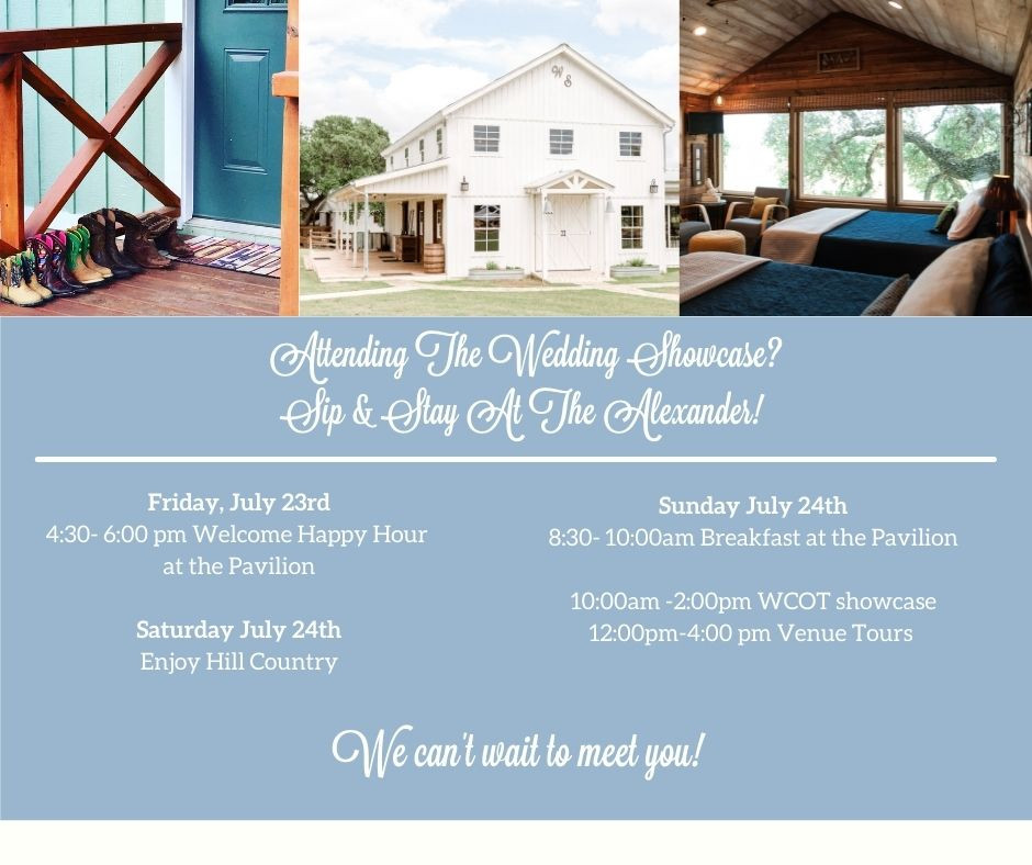 Wedding Venue with onsite Lodging Dripping Springs: The Alexander at Creek Road for your Wedding Weekend in the Hill Country