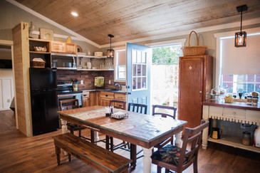 Country House kitchen   at The Alexander at Creek Road in Dripping Springs for your family Reunion or Getaway
