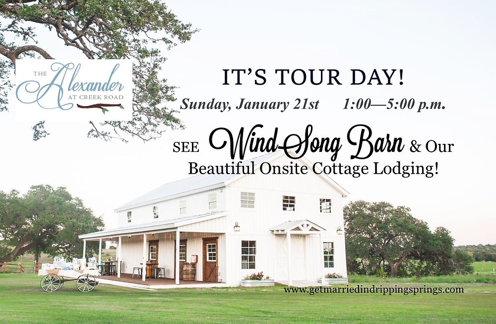 Sunday, January 21st:  1 - 5!  TOUR DAY!