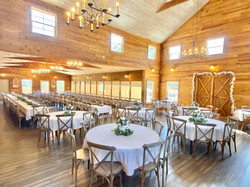 WindSong Barn's interior, all set for the Big Day!
