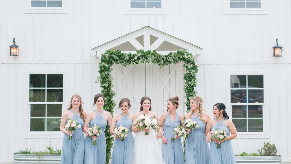 White Wedding Barn: WindSong at The Alexander at Creek Road's WindSong Barn Event Venue by Mylah Renae Photography, Boutique Hotel in Dripping Springs, Texas