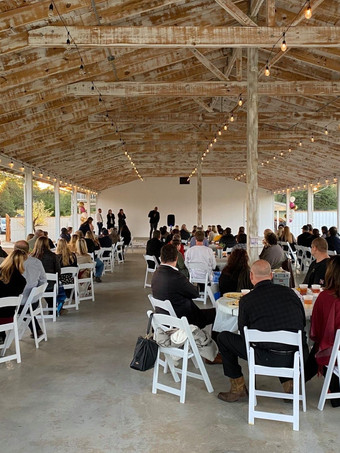 Outdoor Event Space WindSong Pavilion at The Alexander at Creek Road