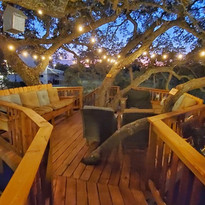 Upper Deck at The Alexander Treehouse Complex near Austin