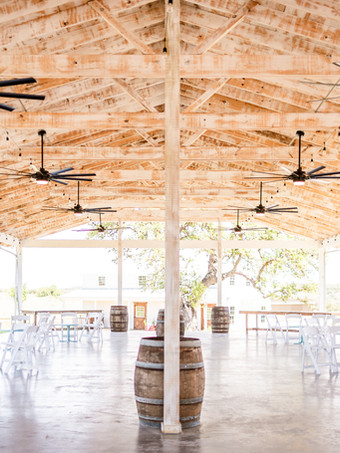 Pavilion's wide open covered outdoor space as captured by Becca Paige Photography