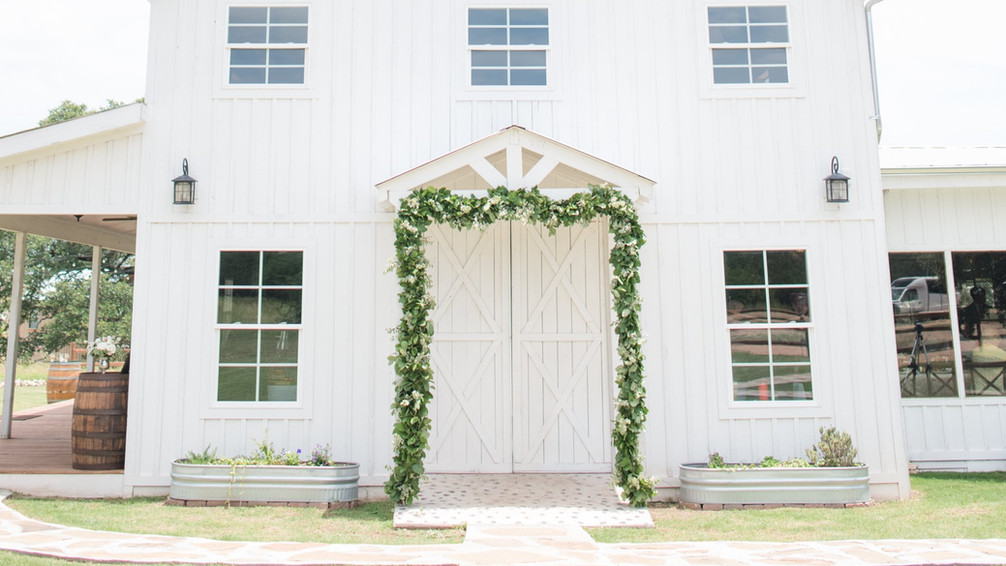 White Barn Wedding venue Dripping Springs TX:  WindSong Weddings at The Alexander at Creek Road