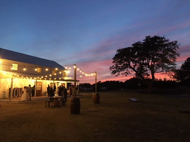 Sunset Wedding near Austin