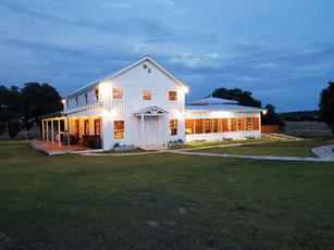 WindSong's Elegant White Barn for Events at The Alexander at Creek Road between San Antonio and Austin, a hill country Wedding Weekend destination