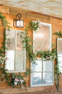 Our Mercury Glass Wall by Mylah Renae Photography