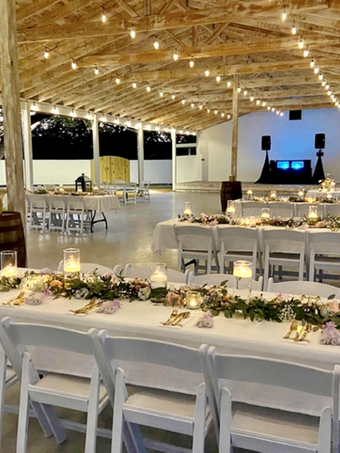 Dinner at WindSong Pavilion for outdoor gatherings and celebrations