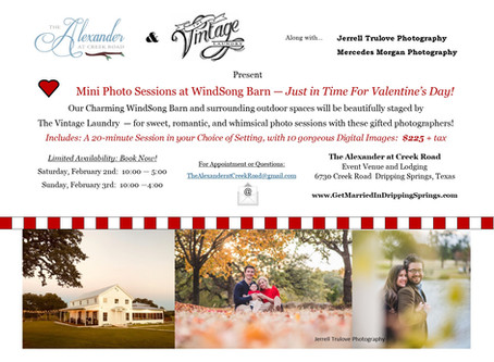 Mini-Photo Sessions at WindSong Barn!