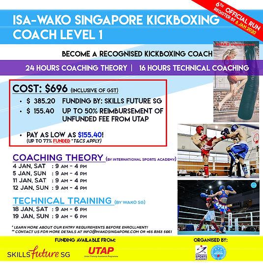 WAKO SG KB Coach Level 1 - Jan 20 (Batch