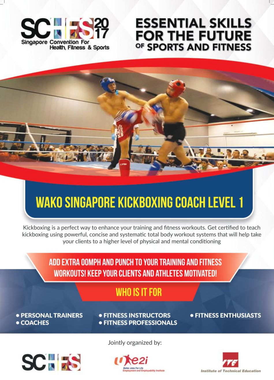 WAKO Singapore Kickboxing Coach Level 1