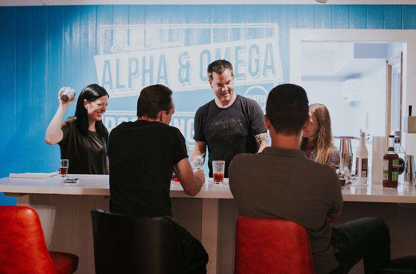 Alpha & Omega Roasting Martini Bar Gathe