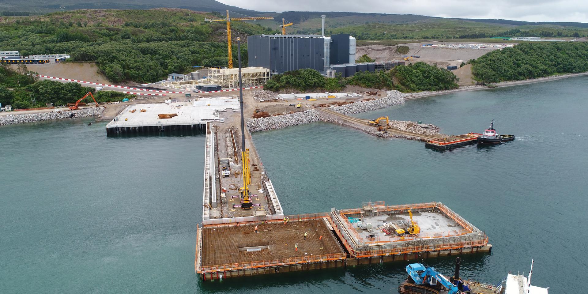 Dock Construction for Marine Harvest