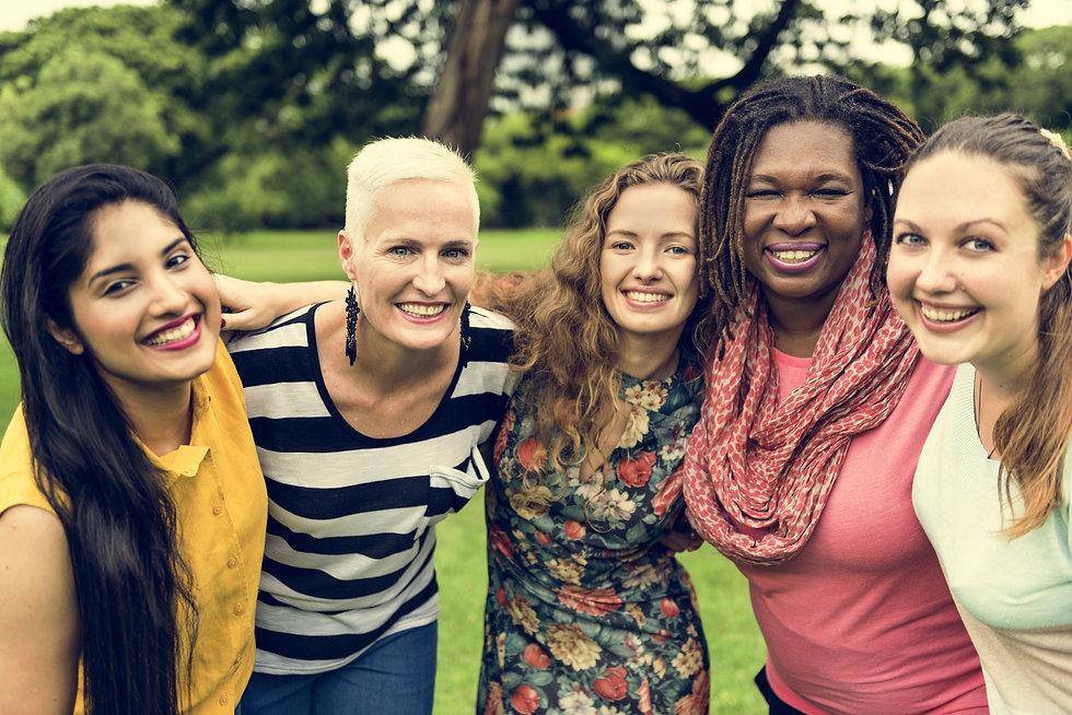 Group of Women Socialize Teamwork Happin