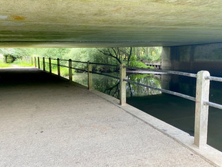 Path passes under the A419