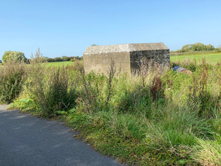 The first of many pillboxes today