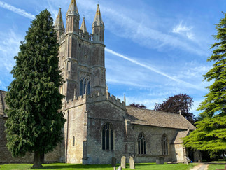 Bus dropped me off by St Sampson's Church Cricklade