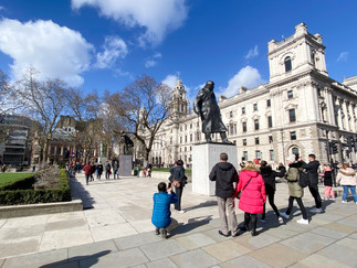 Parliament Square - home to 12 statues of British, Commonwealth and foreign political figures