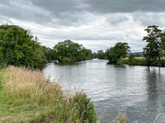 The river at Tilehurst in overcast July