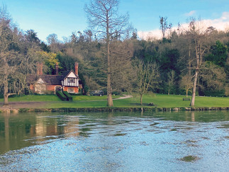 One of the riverside properties on the Cliveden estate