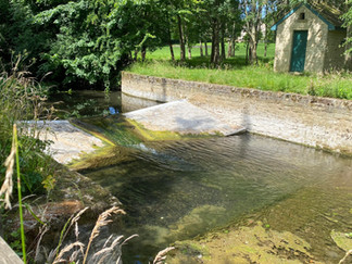 The final (or first) weir across the river